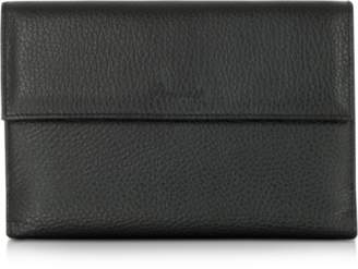 Pineider Country Black Leather French Purse Wallet
