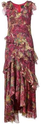 Nicole Miller lurex hi-low dress