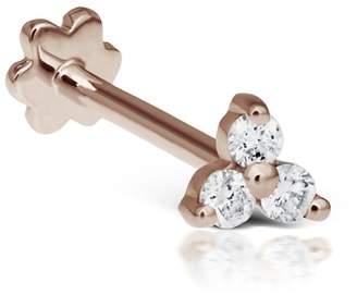 Maria Tash Three Diamond Trinity Thread Through Earring - Rose Gold