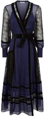 Diane von Furstenberg Forrest Lace Panel Wrap Dress