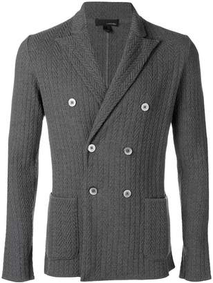 Lardini woven double breasted jacket