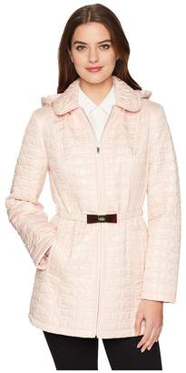 Kate Spade Bow Quilt Tortoise Bow Hooded Jacket 31