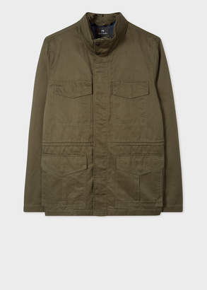 Paul Smith Men's Khaki Cotton-Linen Field Jacket