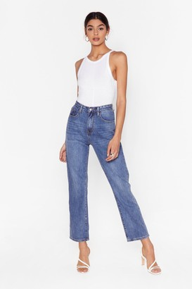 Nasty Gal Womens Zoe Cropped Straight Jeans - Blue - 6, Blue