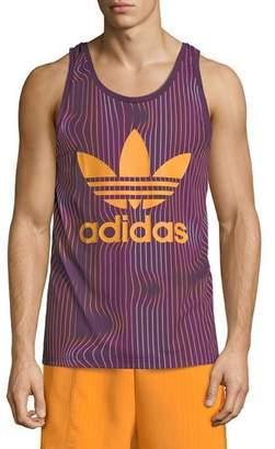 adidas Men's Warped Stripes Tank