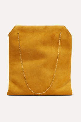 The Row Lunch Bag Small Suede Tote - Saffron