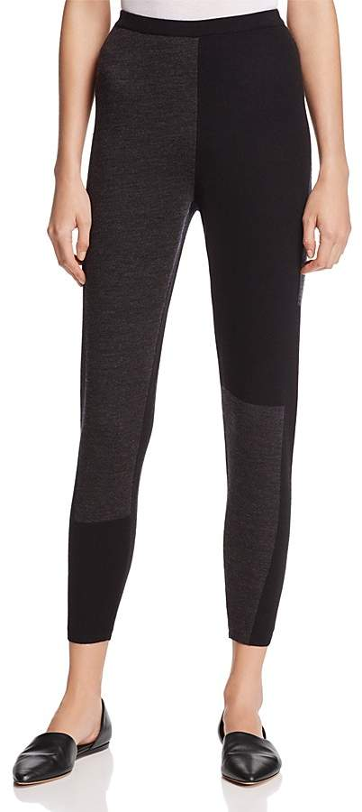 Eileen Fisher Color-Block Collection Merino Wool Leggings
