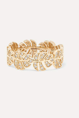 Sydney Evan Monstera 14-karat Gold Diamond Ring