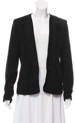 Theory Suede Open Front Blazer