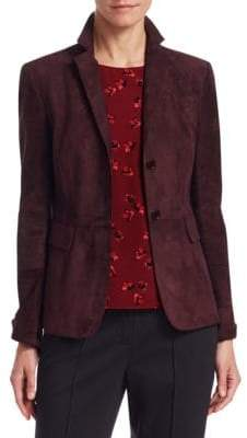 Akris Punto Suede Notch Lapel Blazer