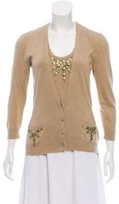 Ermanno Scervino Embellished Knit Cardigan Set