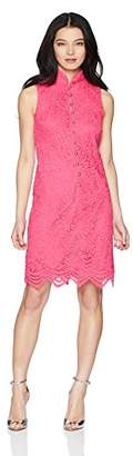 Jessica Howard Women's Petite Sleeveless Embroidered Split Neck