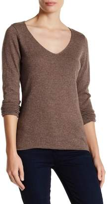 In Cashmere Cashmere V-Neck Sweater $197 thestylecure.com