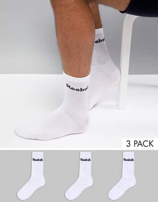 Reebok Training Socks In White AB5279