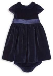 Ralph Lauren Baby Girl's Velvet Bow Occasion Dress
