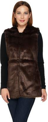 C. Wonder Faux Fur Vest with Printed Lining
