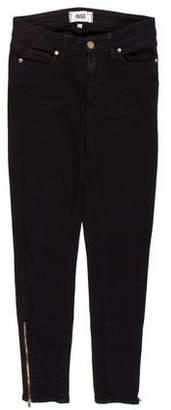 Paige Denim Low-Rise Skinny Jeans