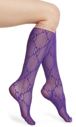 Gucci Double G Logo Knee High Socks