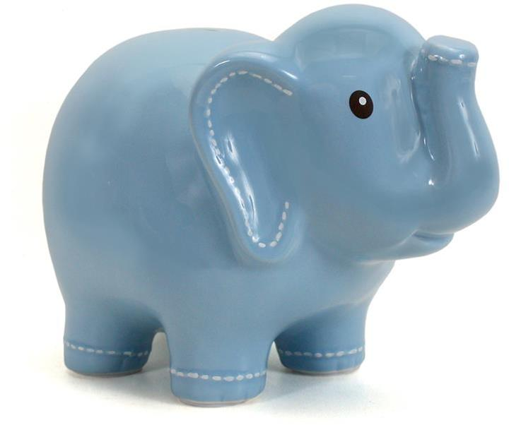 Piggy Bank Elephant- Blue