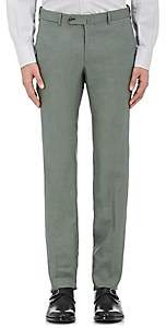 Isaia Men's Cortina Linen Trousers - Olive