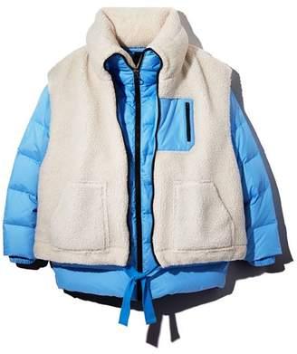 Sjyp Sherpa Overlay Down Jacket