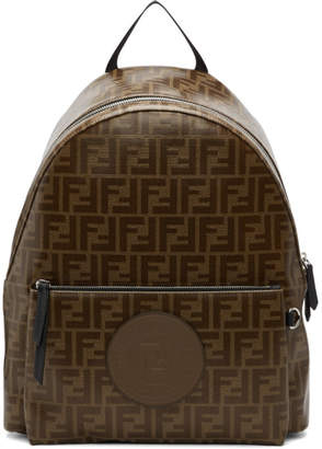 Fendi Brown and Black Forever Backpack