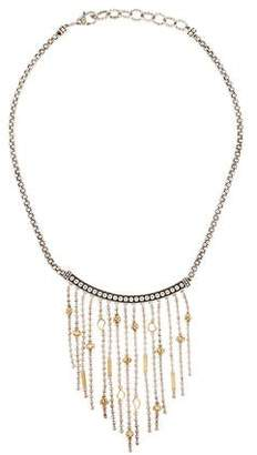 Lagos Two-Tone Caviar Icon Bib Necklace