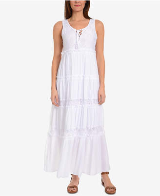 NY Collection Tiered Maxi Dress