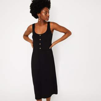 65152574 Warehouse Cami Button Through Midi Dress