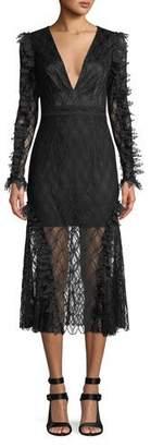 La Maison Talulah Pursue Long-Sleeve Lace Midi Dress