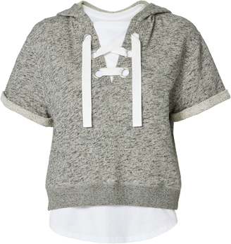 Derek Lam 10 Crosby Lace-Up Hoodie And Tee $395 thestylecure.com
