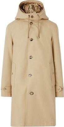 Burberry Cotton Gabardine Coat with Detachable Warmer