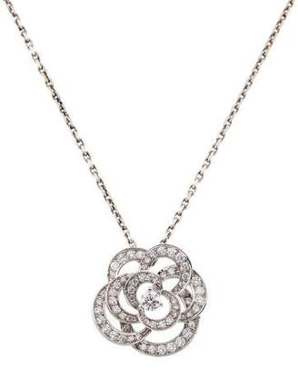 Chanel 18K Diamond Camélia Pendant Necklace