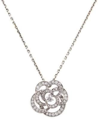 Chanel 18K Diamond Camélia Pendant Necklace