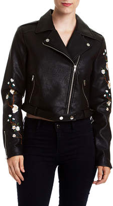 Romeo & Juliet Couture Embroidered Motorcycle Jacket