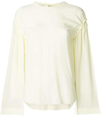 Cédric Charlier gathered sleeves blouse