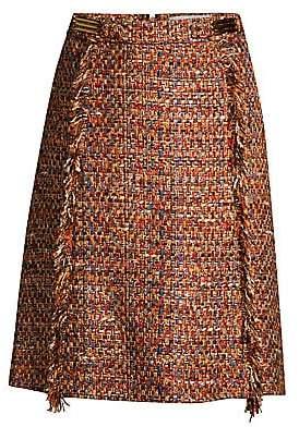 Etro Women's Multi-Tweed Midi Skirt