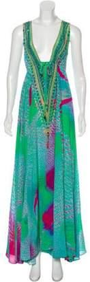Camilla Silk Maxi Dress Green Silk Maxi Dress