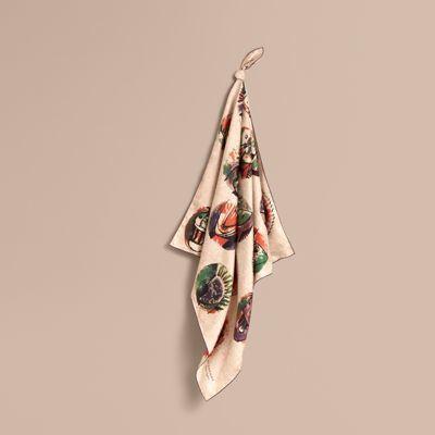 Burberry Burberry Pallas Heads Print Silk Square – Small