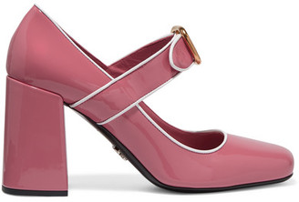 Prada - Patent-leather Mary Jane Pumps - Baby pink $750 thestylecure.com
