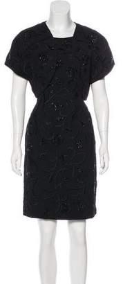 Carmen Marc Valvo Embellished Dress Set
