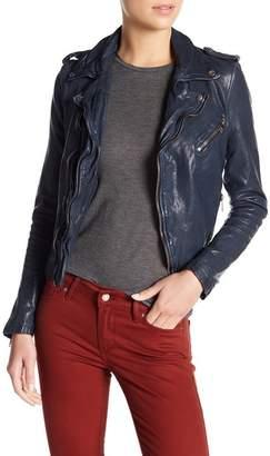 Moto LAMARQUE Washed Leather Jacket
