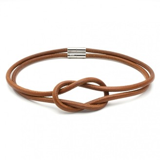 Hermes Atame Brown Leather Necklace