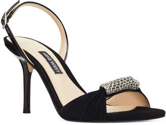 Nine West Ondrea Crystal Embellished Slingback Sandal