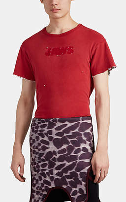 Calvin Klein Men's Distressed Double-Faced Jersey T-Shirt - Red