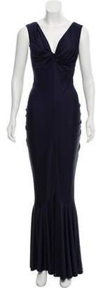 John Galliano Sleeveless Maxi Dress
