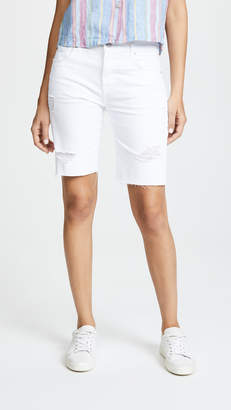 7 For All Mankind High Waisted Straight Bermuda Shorts