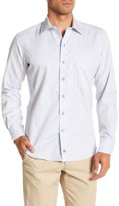 David Donahue Check Casual Fit Shirt