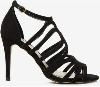 Dorothy Perkins Womens Black 'Blossom' Caged Heeled Sandals
