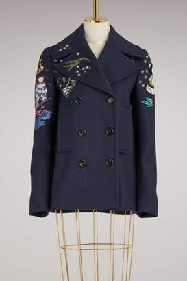 Valentino Tattoo Pea Coat